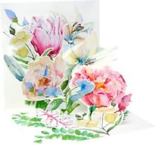 Watercolor Bouquet  -  3D Pop-up Card by Up With Paper