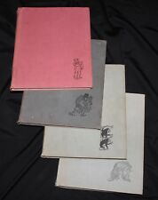 Vintage 1969 Russian Soviet book Herluf Bidstrup caricature 4 volumes full set