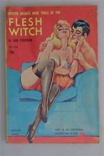 Flesh Witch Dan Postman 1960s 1st Ed Vintage Adult Men's Glamour Novel US Book