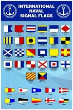 International Naval Signal Flags Reference Chart Mural Inch Poster 36x54 inch