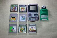 Nintendo Atomic Purple Game Boy Color + GameBoy Camera & 7 Games - TESTED