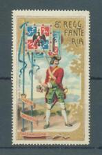 """Italie Cendrillon WW I 8th Regt """"FANTERIA Coloré Étiquette MH"""