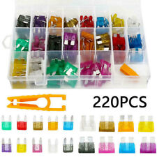 220Pcs Car Blade Fuse Assortment Assorted Kit For Auto Truck Mixed Blade Set