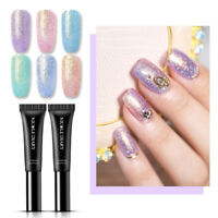 NICOLE DIARY 8ml Soak Off Nail UV Gel Polish Pen Pearl  Glitter Nail Art