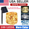 Outdoor Solar String Lights 100 LED Copper Wire Fairy Light Garden Decor White