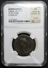 New listing Ad 37-47 Roman Empire Caligula Copper As Coin - Ngc Vg