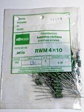 Sachet de 100 résistances vitrifiées 680 ohms 3 watts SFERNICE NOS NIB