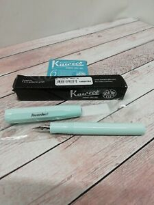 Kaweco SKYLINE SPORT Fountain Pen Mint medium nib plus paradise blue cartridges