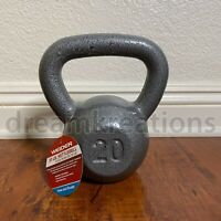 Weider 20 lb Pound Kettlebell Hammertone Grey Cast Iron (In Stock) FREE SHIPPING