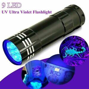 UV Black Light Torch, Ultra Violet, Gas Leak, Forensic Blood, Urine Detector