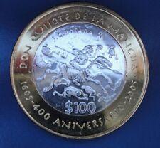 2005 QUIJOTE DE LA MANCHA  MEXICO BIMETALLIC SILVER 100 Pesos