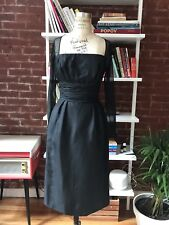 Gorgeous Black Vintage Hourglass Dress With Defect on the sleeve Size small