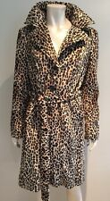 Bnwot Ladies Leopard Print Trench Coat From Next Size 14