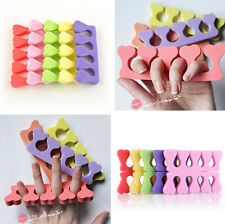 10x set Sponge Foam Finger Toe Separator Nail Art Salon Pedicure Manicure Tool