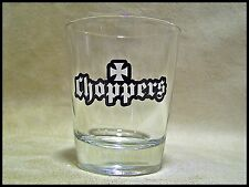 Shot Glass Choppers Logo with Maltese Cross West Coast Style Motorcycle