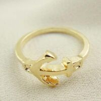 Gold Coloured Anchor Design Scarf Ring Woggle **Slight Seconds**