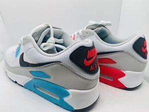 Nike Air Max 90 Size 12 Iron Grey Chlorine Blue Mens Shoe CV8839-100 •No Box Lid