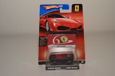 V 1:64 HOTWHEELS RACER 60 YEARS FERRARI F430 SPIDER MATT BLACK MINT ON CARD RAR!