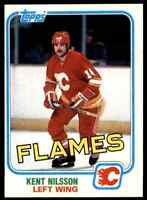 1981-82 TOPPS HOCKEY SET BREAK KENT NILSSON CALGARY FLAMES #24