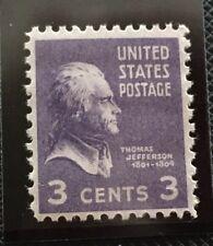 Us Scott #807 1938 Presidential Series 3 Cent Jefferson