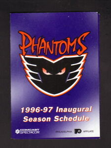 Philadelphia Phantoms--1996-97 Pocket Schedule--Smithfield Pork-Flyers Affiliate