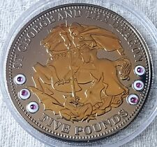 2009 Tristan Da Cuhna £5 COA Numbered St George and Dragon Silver Proof Coin No1