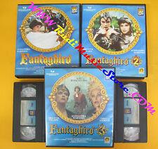 BOX 6 VHS FANTAGHIRO' serie 1/2/3 Alessandra Martines Nielsen PEPITE no dvd