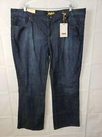 NWT Bitten Womens Jeans Stretch Dark Wash Boot Cut Plus Size 22R