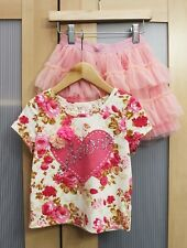 NWT Baby Sara Floral Lace Back Top and Tulle Skirt Set ~ Size 3T  $92