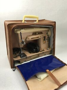 Singer Sewing Machine #403A with Leather Carrying Case