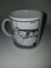 The Far Side Coffee Mug Cup The Embarrassment of Morning Face Gary Larson 1982