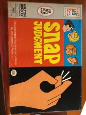 Snap Judgement 1972 Ideal Board Game Complete