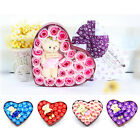 19PCS Favor Flower Heart Rose Bear Petal Soap Wedding Decor Birthday Gift Box