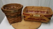 2 Longaberger Christmas Edition Baskets '88 Poinsettia '96 Holiday Cheer