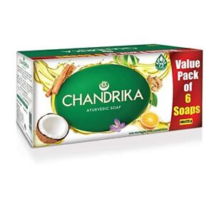 6 soaps Chandrika Ayurvedic Handmade Soap, 75grm / 125grm 8649