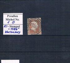 """Preußen, 1/2 Pfg. Mi. 1 mit dem NS. """"1586"""" WARTENBERG,  s. Scan"""