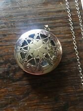 Silver Flat Diffuser Necklace~w/FREE young living essential oil Sample!! LOOK!!!
