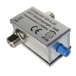 Adjustable attenuator 0 dB - 20 dB - Satellite F Connector - SENT TODAY