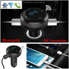 Wireless Bluetooth FM Transmitter Car Kit MP3 Player Dual USB For iPhone Samsung