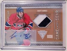 Scott Gomez 2011-12 Panini Titanium Game-Worn Gear Prime Auto 37/50 Canadiens