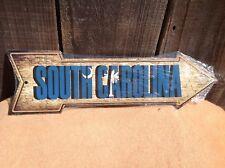 "South Carolina State Flag This Way To Arrow Sign Novelty Metal 17"" x 5"""