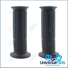 Fat Black Rubber Handlebar Grips to Suit 7/8 (22mm) Handlebars