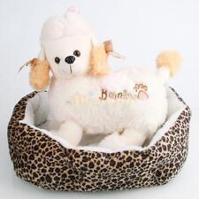 Pet Dog Puppy Cat Rabbit Soft Fleece Cozy Warm Nest Bed House Cushion Leopard S