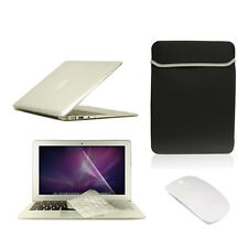 """5 in1 Crystal CLEAR Case for Macbook Air 11"""" + Key Cover + LCD Screen+ Bag+Mouse"""