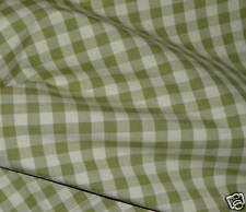 GINGHAM Olive Green Taupe Small Check 6 yards+ New