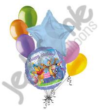 7 pc Winnie Pooh Happy 1st Birthday Balloon Bouquet Party Decoration Disney Baby