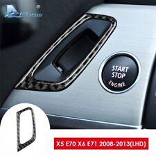 For BMW E70 X5 E71 X6 LHD Carbon Fiber Car Interior Ignition Keyhole Cover Trim