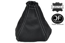 White Stitching Manual Cuero Gear Polaina encaja Kia Sorento 2002-2006