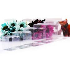 200PCS Wedding Favor Boxes Plastic Sweet Transparent PVC Cube Gift Candy Bags