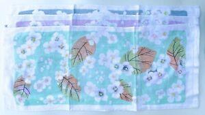 Floral Towel Face Bath Cloths Wash Cloth Set 100% Cotton Absorbent Washcloths